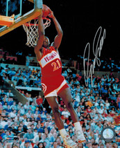 Dominique Wilkins Signed Hawks Slam Dunk 8x10 Photo - $50.00
