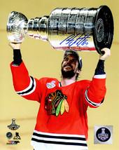 Antoine Vermette Signed Chicago Blackhawks 2015 Stanley Cup Trophy 8x10 Photo - $45.00