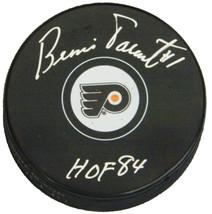 "Bernie Parent Signed Philadelphia Flyers Logo Hockey Puck w/ ""HOF '84"" - $65.00"