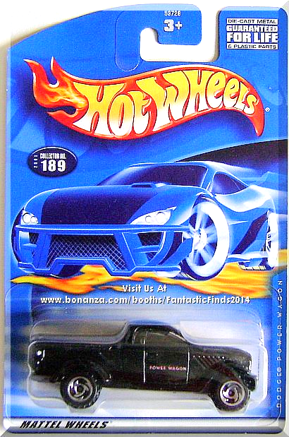 Hot Wheels - Dodge Power Wagon: Collector #189 (2001) *Black Edition*