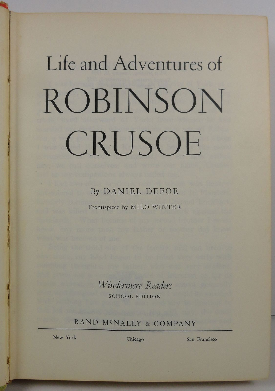 Robinson Crusoe by Daniel Defoe 1956 Windermere Readers