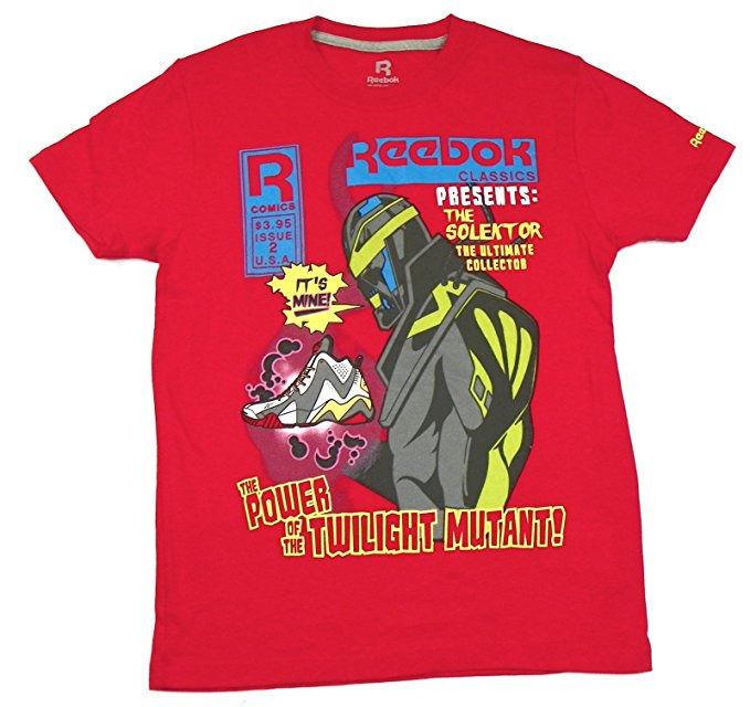 Boy's 8-20 Shirt Reebok Classics Solektor Graphic Tee Cotton Red Rush T-Shirt