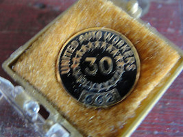 1962 United Auto Workers 30 years service award... - $35.15