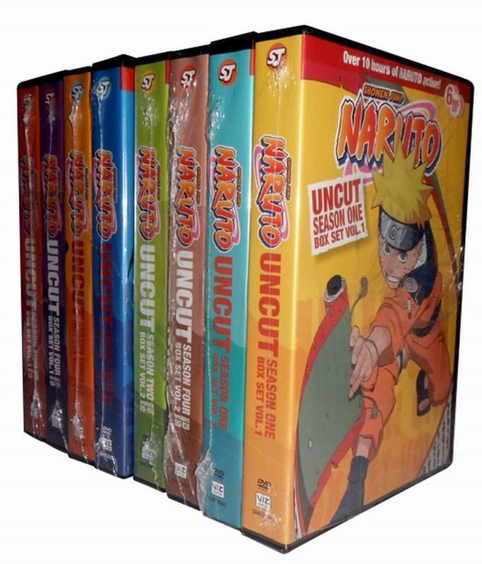 Naruto Uncut: The Complete Series Seasons 1-4 DVD Box Set 48 Disc Free Shipping