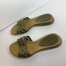 Cole Haan Womens Sz 6 B NikeAir Slip On Slide Sandals Gold - $27.76