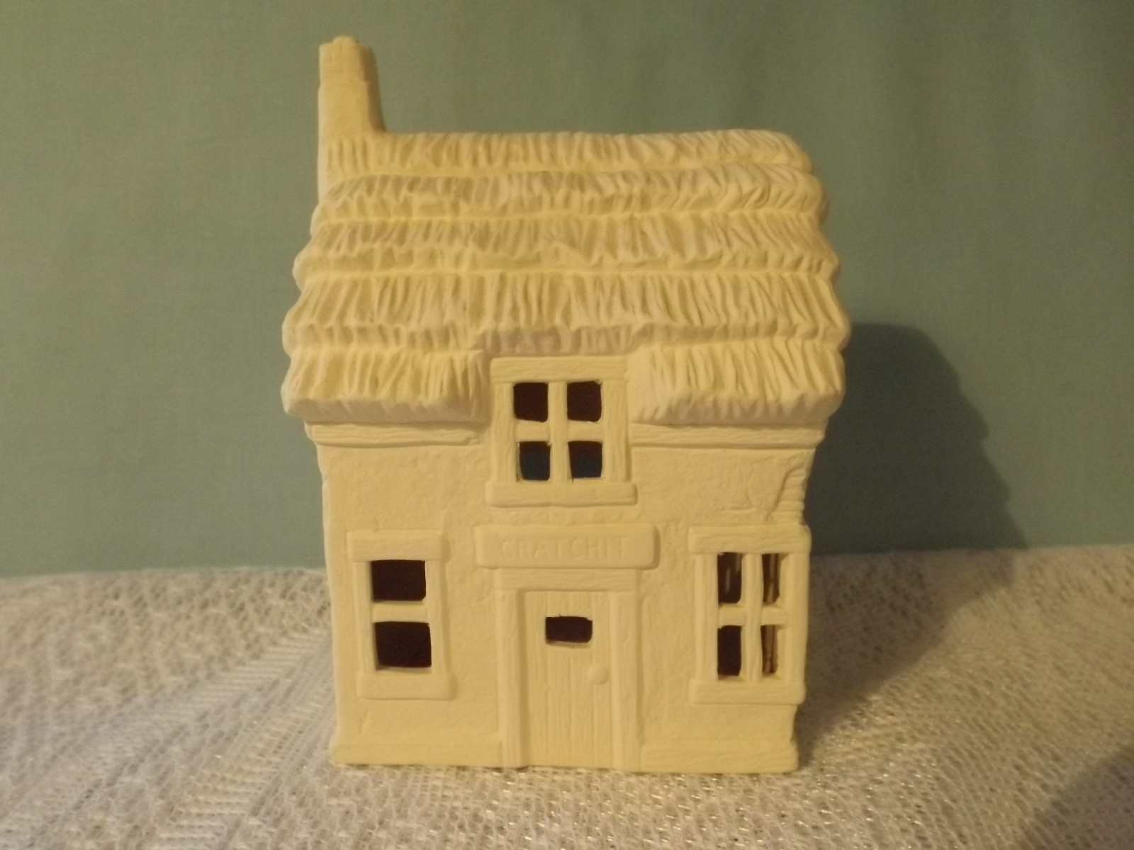 Dicken 39 s cratchit house ceramic bisque ready to paint for Ceramic house paint