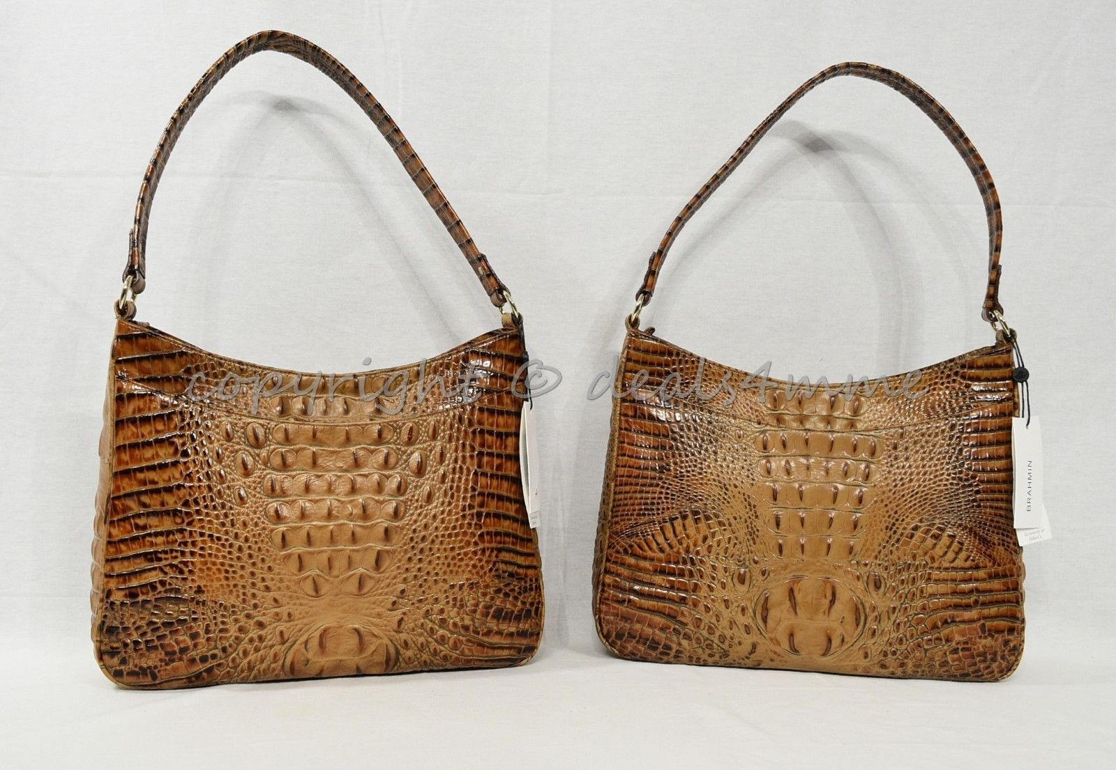 NWT Brahmin Noelle Leather Tote / Shoulder Bag in Toasted Almond Melbourne image 11