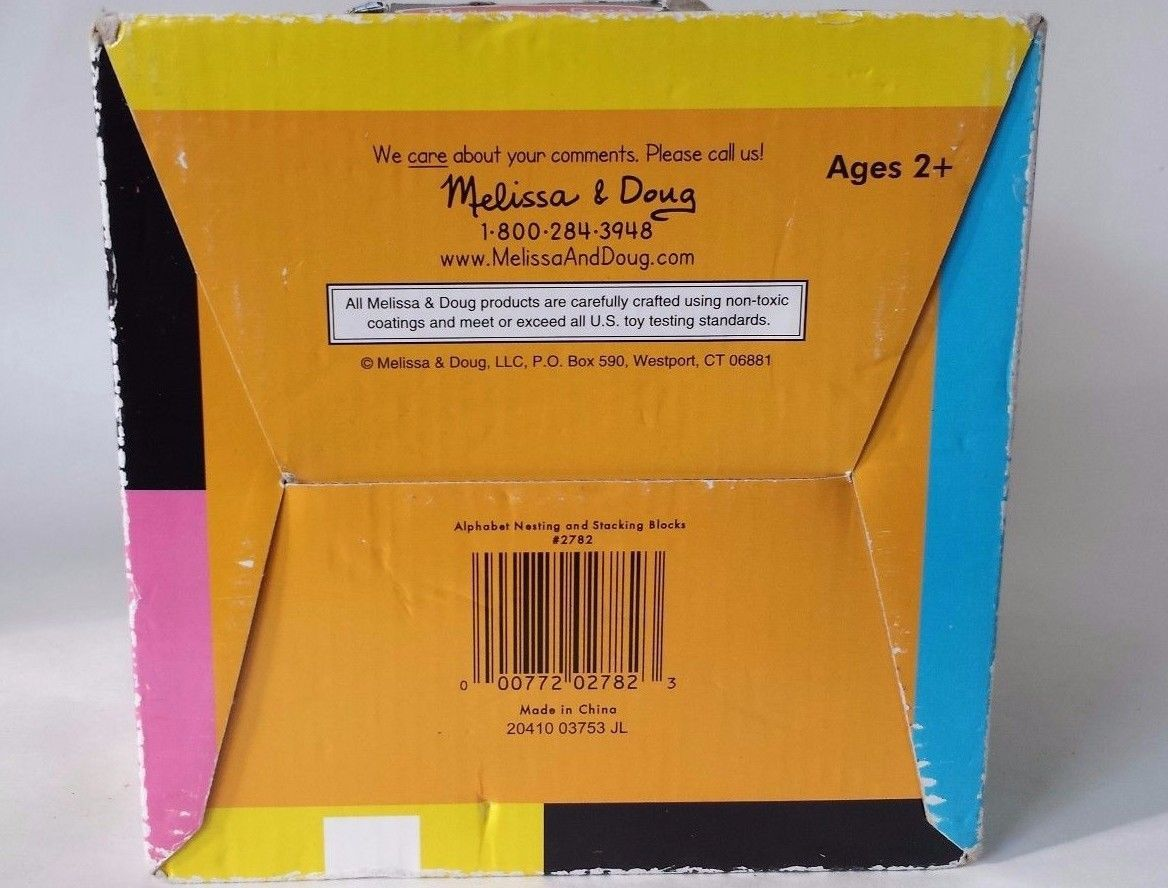 Cardboard Alphabet Number Blocks Melissa And 50 Similar Items