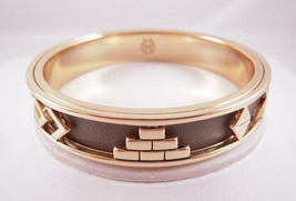 House of Harlow 1960 14KT Y/G Plated Khaki Aztec Bangle NEW - $44.55