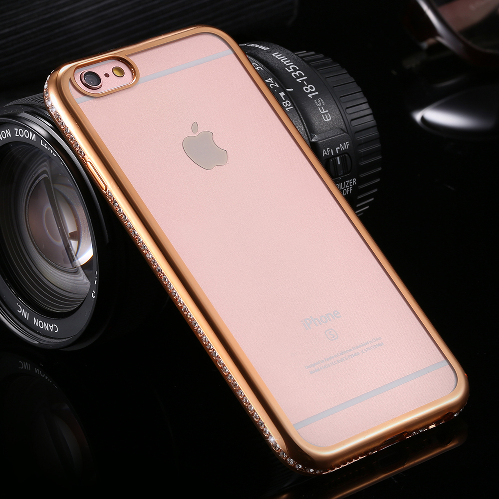 iphone 6s free glitter plating frame for apple iphone 6 4 7 3558
