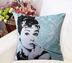 Audrey Hepburn Satin Home Decor cushion Linen c... - $25.55