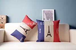 France banner Eiffel Tower Home Decor cushion L... - $26.90