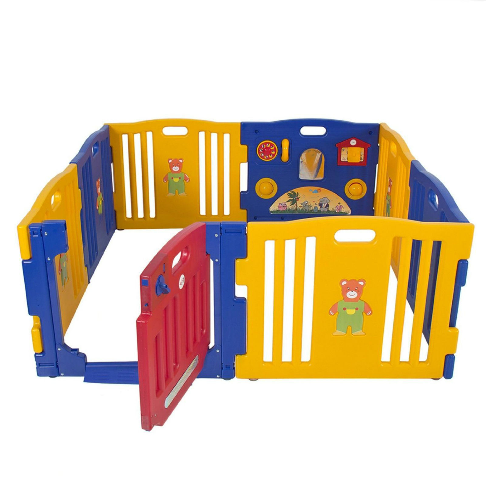 Baby play center playpens for babies portable kids 8 panel for Baby play centre