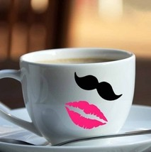 10 and 10 lip mustaches bumper stickers vinyl decoration marriage mugs c... - $9.41