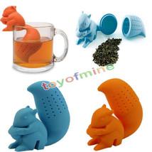 Cute Squirrel Tea Strainer Herbal Silicone loose-leaf Tea Infuser Silico... - $9.35