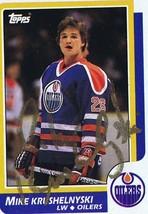 Mike Krushelnyski 1986 Topps Autograph #193 Oilers - $18.58