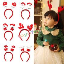 Christmas Headband Decoration Santa Claus Snowman Elk Glove bear reindee... - £6.13 GBP
