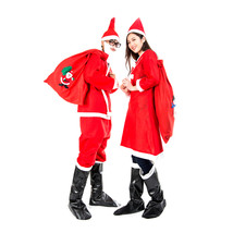 HuntGold Santa Claus Men Adult Christmas Costume Clothes Suit Cap Pants ... - $29.40