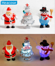 Flashing LED Lighted dolls Christmas decoration Supply Santa/snowman for... - $14.42
