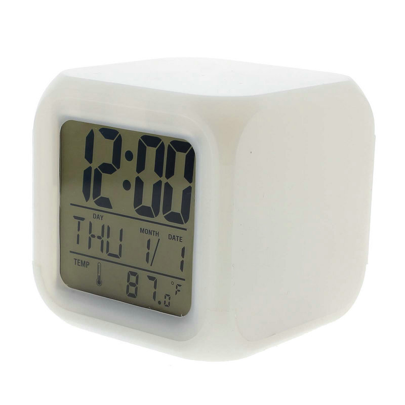 Design 7 Colour Changing Led Digital Alarm Clock With Date