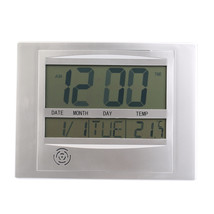 Digital Number LCD Calendar Wall Alarm Clock with Snooze,ThermometerHygr... - $28.09