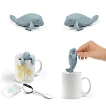 1 pc Silicone Tea Strainer Tea Infuser Herbal Spice Filter Manatee-Shape... - $8.93