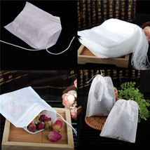 Teabags 100Pcs/Lot 5.5 x 7CM Empty Tea Bags With String Heal Seal Filter... - $9.71