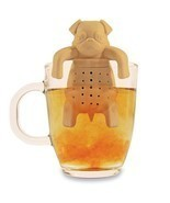 1Piece Tea Strainers Pug In A Mug Silicone Tea Infuser Kawai Portable Do... - £7.15 GBP