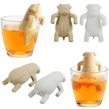 Lovely tea strainers pug in a mug silicone tea infuser kawai portable dog tea strainers thumb200