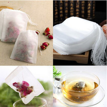 Teabags 100Pcs/Lot 5.5X5cm Empty Tea Bags With String Heal Seal Filter P... - $10.75