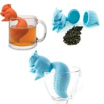 Cute Squirrel Shape Tea Infuser Loose Leaf Strainer Bag Mug Filter - $9.86