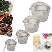 4 Size Stainless Steel Tea Strainer Infuser Tea Locking Ball Tea Spice M... - $12.04