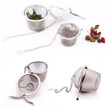Silver Reusable Stainless Mesh Herbal Ball Tea Spice Strainer Teakettle ... - $8.62
