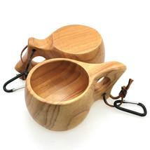 Design Coffee Drinking Wine Tea Wooden Cup Craft Mug Tableware Handmade - $19.85
