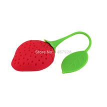 Creative 1Pcs Fruit Strawberry Shape Silicone Tea Infuser Strainer Herba... - $8.61