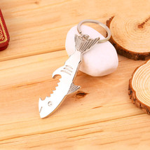 Stylish Shark Canopener Can Bottle Opener Key Cover Key Cap Keychain Rin... - $8.32