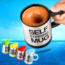 5 colors Stainless Steel Lazy Self Stirring Mug Auto Mixing Tea Milk Cof... - $15.24
