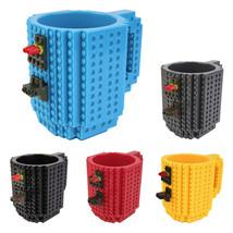 1pc Build-On DIY Assembly Brick Mug Children Kids Building Blocks Coffee... - $19.48