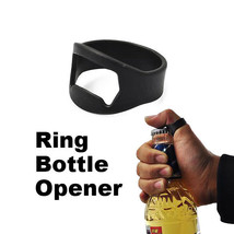 Easy carry finger ring beer bar bottle opener Black Best For Beer - $8.42