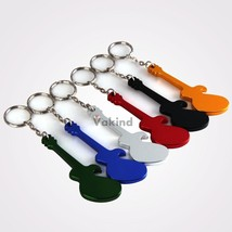 Guitar Shaped Beer Opener Aluminum Alloy Bottle Opener Keychains - $8.32