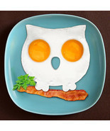 1pc Breakfast Silicone Fried Egg Mold Pancake Egg Ring Shaper Funny owl ... - ₨563.56 INR