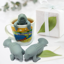 Silicone Manatee Diffuser Infuser Loose Tea Leaf Strainer Herbal Spice F... - $10.83
