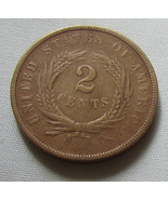 2 Cent Piece US Coin 1868 - $34.99