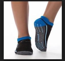 Copper Fit 1 Pair Gripper Unisex Performance Socks, Blue/Black, Size L/XL - $9.89