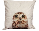 On covers vintage owl cotton linen pillow case sofa waist throw cushion cover home thumb155 crop