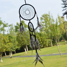 Handmade Black Dream Catcher Net With feathers ... - $12.07