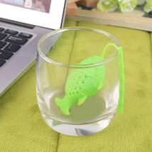 Stylish Silicone Cute Fish Fishing Shape Tea Leaf Herbal Strainer Filter... - $8.45