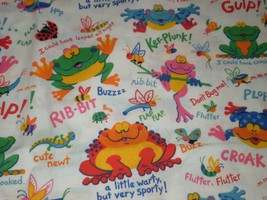 Fabric Traditions Frog grasshopper Bee bug Fabric Primary Colors 1.5 yards  - $21.95