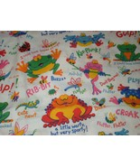 Fabric Traditions Frog grasshopper Bee bug Fabric Primary Colors 1.5 yards  - $25.00