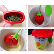 Fruit Strawberry Shape Silicone Tea Herbal Spic... - $8.62